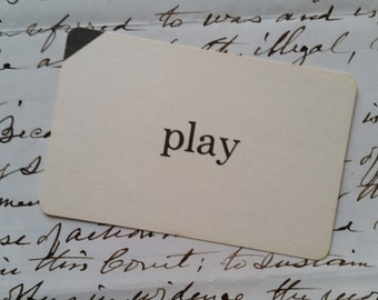 Vintage Word Flash Card | Vocabulary | Sight Word | Play
