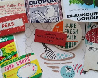 34 pc Vintage Kitchen Ephemera Pack | Cooking Papers | Inspiration Kit