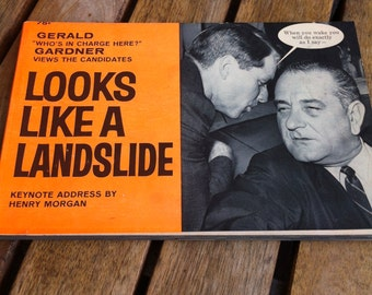 Looks Like a Landslide Vintage Paperback by Gerald Gardner 1964 Fawcett Special No. 6 Political Humor Parody Candidates