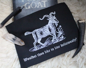 """The Witch's Black Phillip """"Live Deliciously"""" patch"""