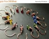 VALENTINE SALE COPPER Earrings - Seven Earrings for the Price of Six - Wire Wrapped Teardrop Earrings. Handmade Jewelry.