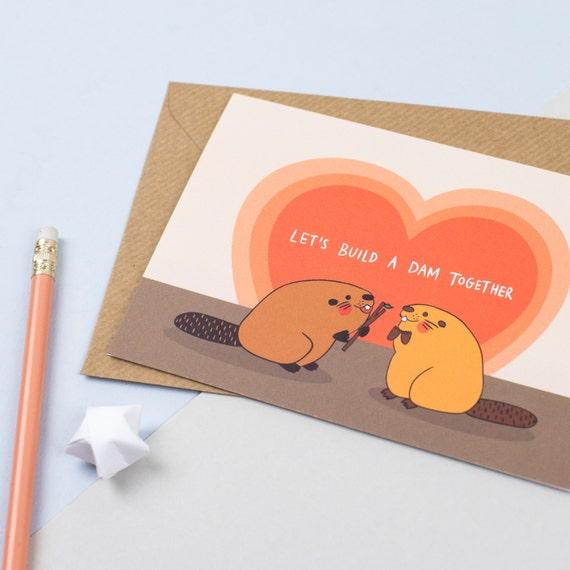 Beaver Love Card