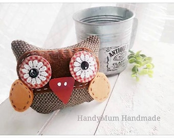 Unique handmade owl