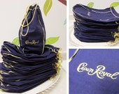 Crown Royal Bags, Lot of 42 Purple Bags with Gold Embroidery and Pull String Closure for 750 ml Bottle for Arts & Crafts Projects (II)