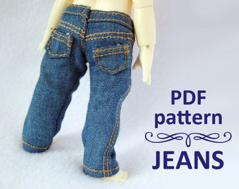 PDF pattern JEANS for Lati yellow / PukiFee