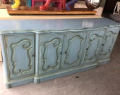 Gorgeous and Unique Vintage French Painted Buffet