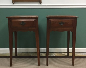 Lovely Petite Traditional Tall Side table/nightstand