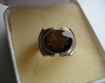 Deep Smoky Quartz Ring