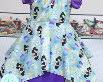 Jasmins Princess  - Aladdin -  Arbian Desert -  Sultan Summer Dress - Disney Jasmine - Disney Vacation