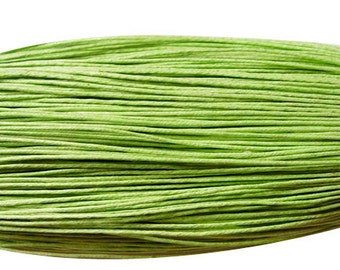 5M waxed cotton cord, green, 1.5mm Diameter for Bracelet/ Necklace
