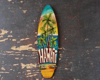 Hawaii Mini Surfboard - beach, tropical, hawaiian wall decor