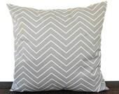 Pillow, Throw Pillow, Pillow Cover, Cushion, Decorative Pillow, Storm Gray White Chevron modern contemporary home decor