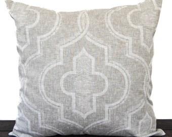 Pillow, Throw Pillow, Pillow Cover, Cushion, Decorative Pillow, Cove Beige Tan White Newport
