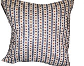 Red, White and Blue Heart and Star Fourth of July or Valentine's Day Large Decorative Pillow