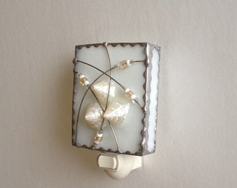 Stained Glass  Night  Light, Whites