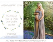 Spring, Maternity Mini Marketing Board PSD Template for Photographers