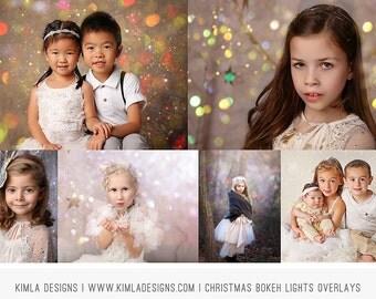Christmas Bokeh Light Overlays