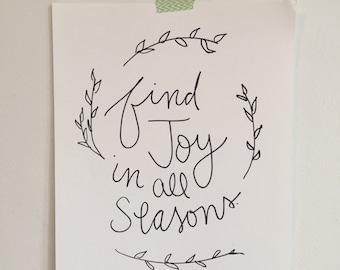 Joy in All Seasons Print