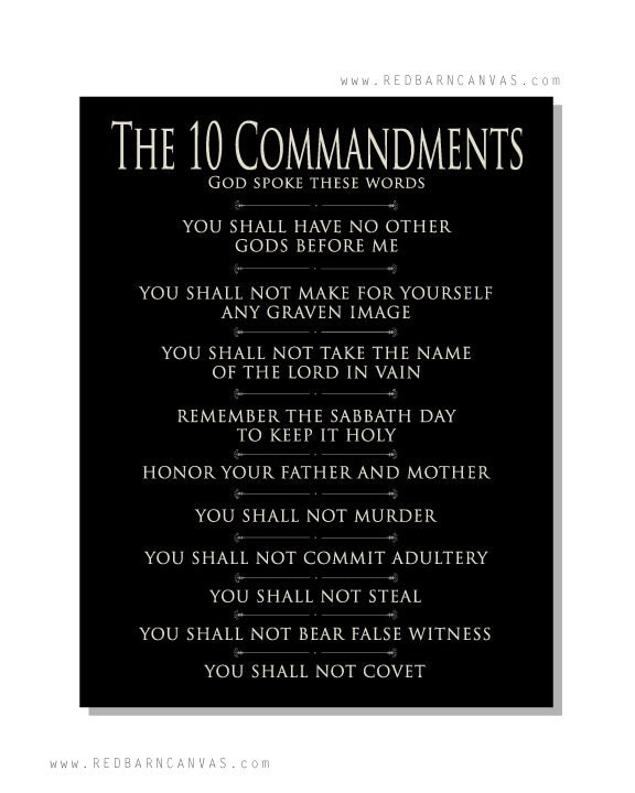 The Ten Commandments On Canvas Wall Art Red Barn Canvas