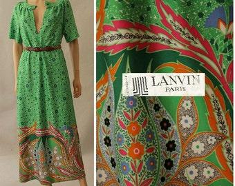 1970s Lanvin Paris  long dress small