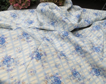 Free Shipping Duvet Cover Cotton Floral Pattern Flowers Blanket Coverlet Bedspread Twin Bed Single Bed Germany 1950 Vintage Fabric Unused