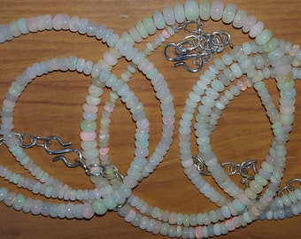 Beautiful Lot of 3 ETHIOPIAN WELO OPAL Necklaces Total 149cts of Smooth Rondelle Beads Discounted with Free Shipping And 10% Off At Checkout