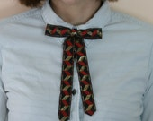 Vintage Black Red and Gold Western Rockabilly Square Dancing Long Tie
