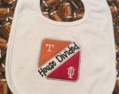 Baby Bib - Texas Longhorns & Indiana House Divided
