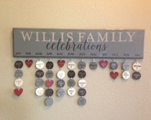 Family Celebrations Painted sign (24 x 5.5) custom colors and wording available