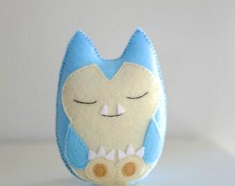 Snorlax pokemon inspired handmade soft doll