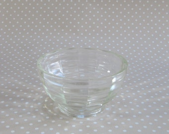 Vintage Retro Patterned Heavy Glass Dessert Snack Bowl