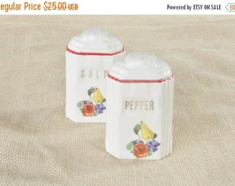 On Sale Vintage Shabby Chic/Cottage Style Salt and Pepper Shakers
