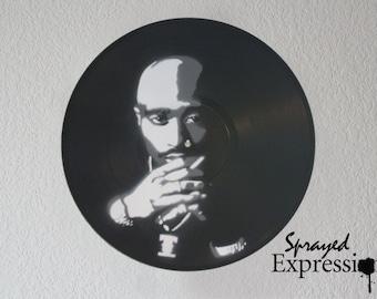 Tupac Vinyl Record Painting