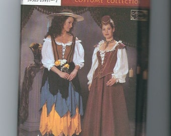 UNCUT Sewing Pattern Simplicity 5922 for Renaissance Costumes, Sz 4,6,8,10