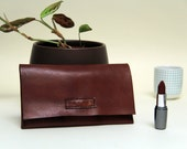 handmade leather cheque book case , business card case, paper and document holder, wallet
