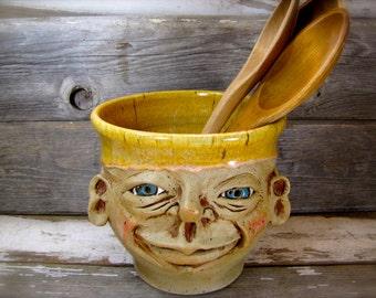 Ceramic Utensil Holder, Ceramic Kitchen Utensils,Ceramic Utensil Jar,Moden Poterry Gift