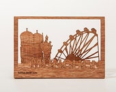 postcard wood - Munich 3 cards