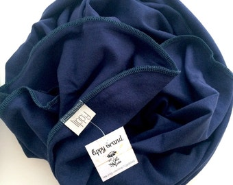 Large baby blanket. Classic boy. Navy with navy edging. Size 45 by 45 inches. Lippybrand. Summer baby boy. Swaddling baby.