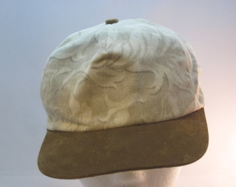 Brushed Cotton Swirl Printed Baseball Cap - Neutral tans and creams