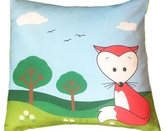 Kawaii Fox Decorative Pillow Case