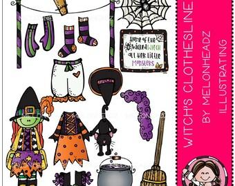 Witch's Clothes Line clip art