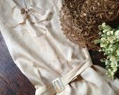 Shantung Silk Wedding Dress 1920s Summer Dress Ivory Cream Silk All Silk Sleeveless Flapper Original Label