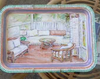 Hand Painted Small Tray - Hang or Use