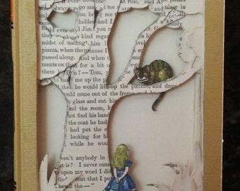 RESERVED Alice in Wonderland Book Sculpture