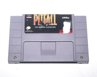 Vintage 1992 Pitfall The Mayan Adventure Nintendo SNES, Nintendo Games, Vintage Toys, Antique Alchemy