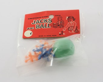 Vintage Dime Store Jacks and Ball Game - Made in Hong Kong