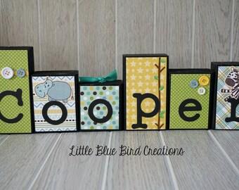 Children's Name Wood Blocks - personlized sign - nursery decor - wood blocks - name sign - wood letters