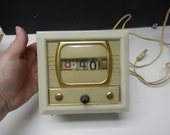 Numcron 1950s Tymeter Early Digital Television Shaped Clock 1957