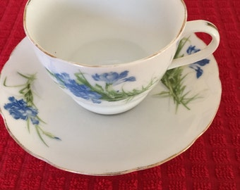 China 993 Tea Cup Blue Flower