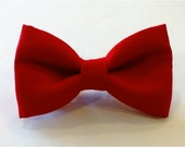 bow tie red blue toddler baby childrens kids clip on neck by Brookes & Company